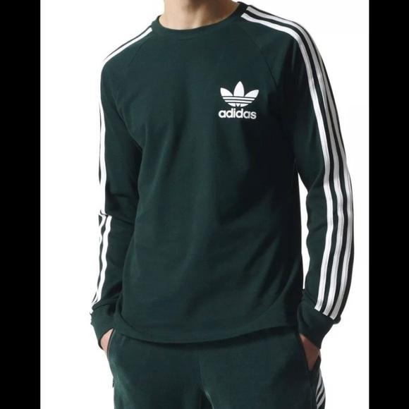 Adidas Originals 3 Stripes T Shirt DP GreenWhite